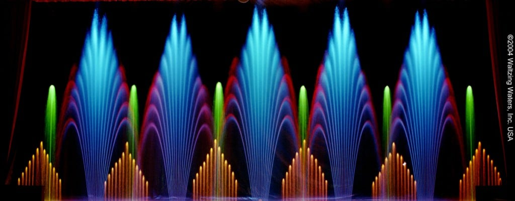 Indoor Musical Water Fountain Show Liquid Fireworks