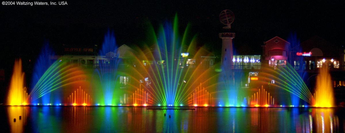 Musical Water and Light Fountain Display