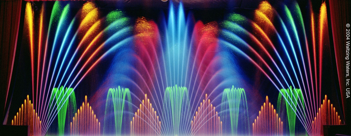 indoor fountain fireworks
